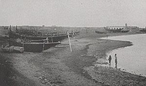 Doha - Doha's coastline in 1904