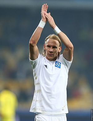 Domagoj Vida - Vida playing for Dynamo Kyiv in 2015