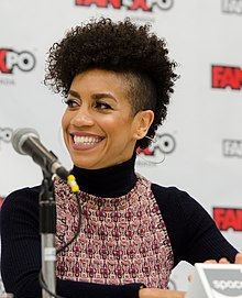 Dominique Tipper at Fan Expo 2017 in Toronto