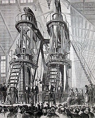 Brazil–United States relations - U.S. President Ulysses S. Grant and Emperor Pedro II of Brazil during the opening  ceremonies of the Centennial Exposition in Philadelphia, 1876.
