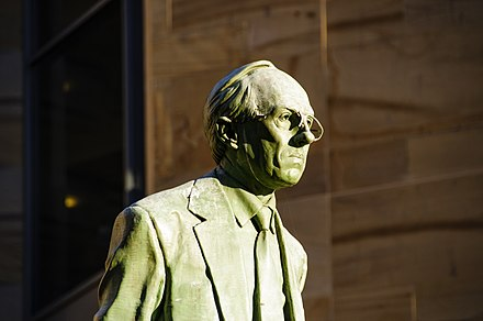 Donald Dewar, the first First Minister of Scotland, is often regarded as the Father of the Nation[241]