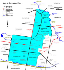 Doncaster east map.PNG