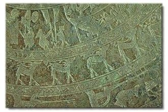 Hồng Bàng dynasty - Image on the Ngoc Lu bronze drum's surface