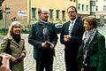 Doris Schröder-Köpf, Landesbischof Ralf Meister, Stadtsuperintendent Hans-Martin Heinemann, Professor Gudrun Schöfel, 6. Lange Nacht der Kirchen in Hannover, 2012 Conrad-Wilhelm-Hase-Platz.jpg