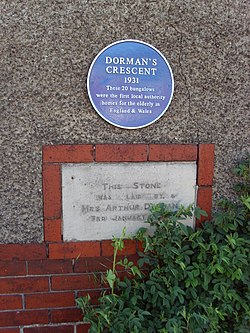 Photo of Dormans Crescent Bungalows blue plaque