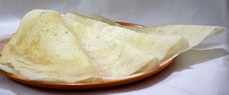 Tamil cuisine - Dosai made at home