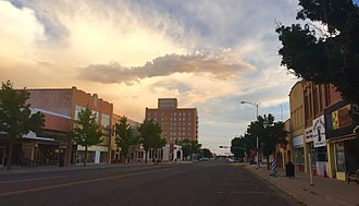 Clovis, New Mexico - Main Street in September 2015