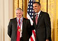 Dr. Lee Hood receiving the National Medal of Science from President Obama.jpg