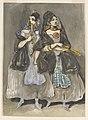 Drawing, Two Spanish Women Promenading, ca. 1860 (CH 18347853).jpg
