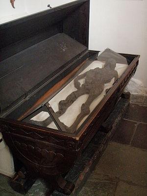 Haraldskær Woman - Haraldskær Woman on display in a glass-covered sarcophagus in Vejle, Denmark