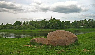 Druya - A Boris stone retrieved from the Drujka River has become a local tourist attraction.