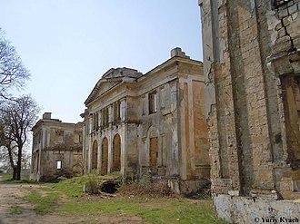 Dubiecki Manor in Vasylivka - The view of ruins