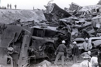 San Bernardino train disaster - Duffy St. train disaster San Bernardino California May 12, 1989