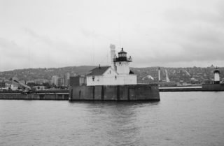 Duluth South Breakwater Outer Light lighthouse in Minnesota, United States