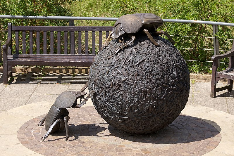 File:Dung Beetles Sculpture by Wendy Taylor at the London Zoo.jpg