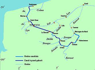 Canal Dunkerque-Escaut - Image: Dunkerq Escaut