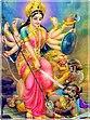 Durga kill 2 demons.jpg