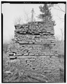 EAST (CHARGING) ELEVATION, LOOKING WEST. - Lewisburg Furnace, One Indian River, Harrisville, Lewis County, NY HAER NY,25-HARV.V,1-3.tif