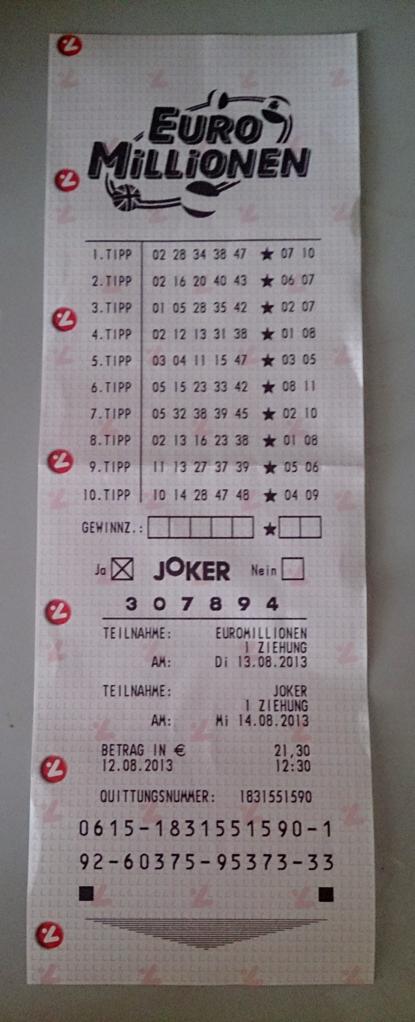 Euro Joker Ziehung