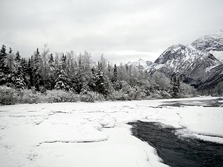 Eagle River (Cook Inlet) stream which flows into Cook Inlet