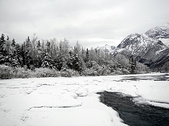 Eagle River (Cook Inlet) - Eagle River in winter.(Chugach State Park)