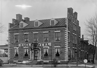 Eagle Hotel (Waterford, Pennsylvania) - HABS photo of the hotel in 1933.