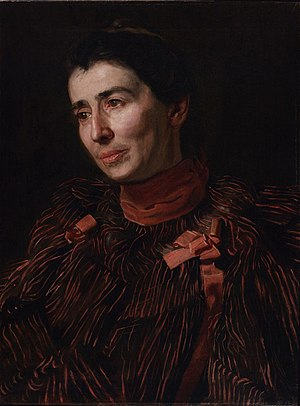 Portrait of Mary Adeline Williams - Thomas Eakins. Portrait of Mary Adeline Williams. Oil on canvas, 1900. 61.3 x 46 cm. Philadelphia Museum of Art.