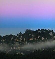 d6a2d59b4a Earth s shadow (blue) and the Belt of Venus (pink) at dawn
