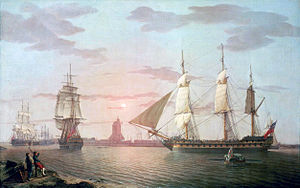Robert Salmon - Image: East Indiaman Warley (adjusted)