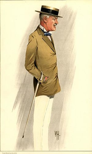 Herbert Eaton, 3rd Baron Cheylesmore - As depicted by Wallace Hester in Vanity Fair, July 1912