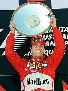 Eddie Irvine after the 1999 Australian Grand Prix.jpg