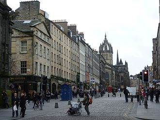 "Mile - Edinburgh's ""Royal Mile""—running from the castle to Holyrood Abbey—is roughly a Scots mile long."