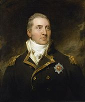 Portrait of the head and torso of a middle aged man wearing a blue naval uniform