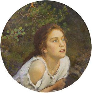 Eero Järnefelt - Image: Eero Järnefelt Forest Girl (1894)