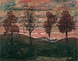 Egon Schiele - Vier Bäume - 3917 - Österreichische Galerie Belvedere