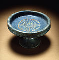 Egyptian - Blue Faience Saucer and Stand - Walters 481608 - Top.jpg