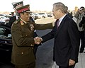 Egyptian Minister of Defense Field Marshal Mohamed Hussein Tantawi arrives at the Pentagon, 2006.jpg