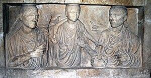 Deutsch: Grabstein einer römischen Familie aus...