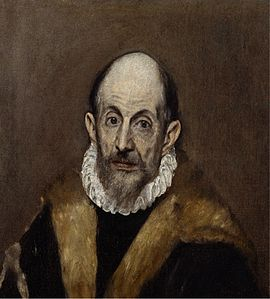 Portrait of An Old Man (presumed self-portrait of El Greco), circa 1595–1600, oil on canvas, 52.7 × 46.7 cm, Metropolitan Museum of Art, New York City, United States