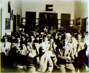 Ahmed Hilmi Pasha - Declaration of establishment of Palestinian Government. El-Falah school, Gaza City. 22 September 1948.