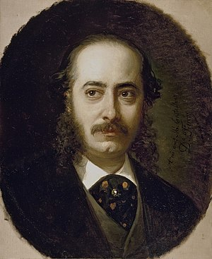 Manuel Castellano (painter) - Manuel Castellano; portrait by Dionisio Fierros (1865)