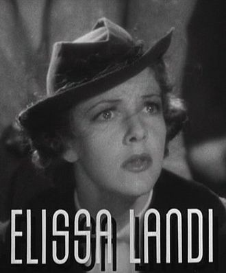 Elissa Landi - from the After the Thin Man film trailer, 1936.