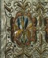 En söndersprättad harskinnsmuff som ägts av Gustav II Adolf (mönsterdetalj) - Livrustkammaren - 73699.tif