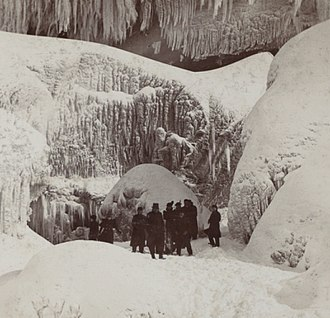 Cave of the Winds (New York) - 19th century photograph of the entrance to Cave of the Winds