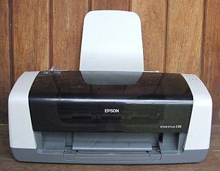 Inkjet printing Type of computer printing
