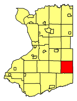 Location of Holland in Erie County