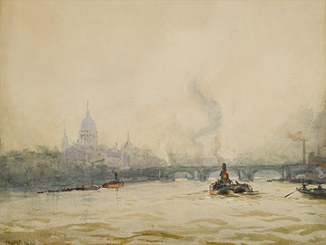 Ernest Dade - St Paul's from the River