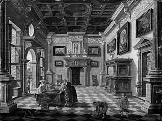 Sumptuous Renaissance Interior with Tric-Trac Players