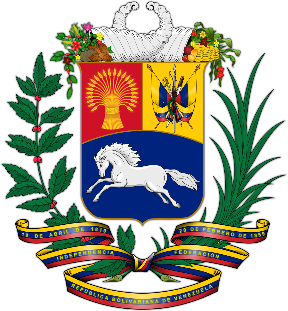 Coat of arms of venezuela wikipedia for Fundacion de venezuela