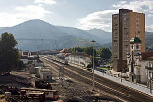Peso da Régua - The railway station in Peso da Régua